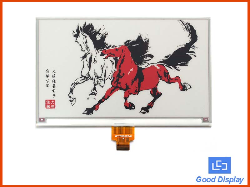7.5 inch tri-color red high resolution e-paper display large e-ink screen module GDEW075Z08