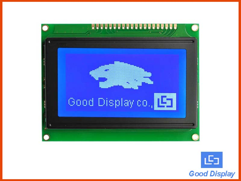 Transflective STN COB LCD Module Yellow-Green/Blue-White YM12864J