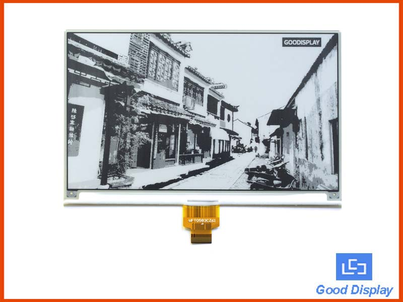7.5 inch Large 4 Grayscale e-paperdisplay higher resolution 800x480 SPI GDEW075T7