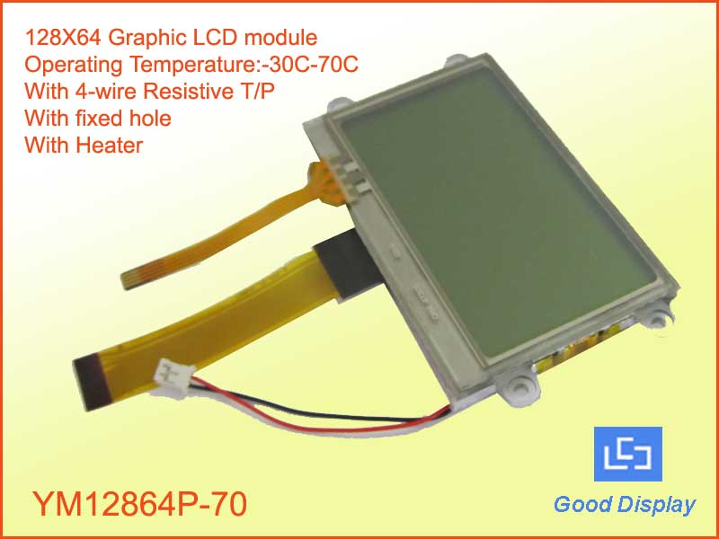 128X64 ultra-extended  temp LCD with T/P YM12864P-70