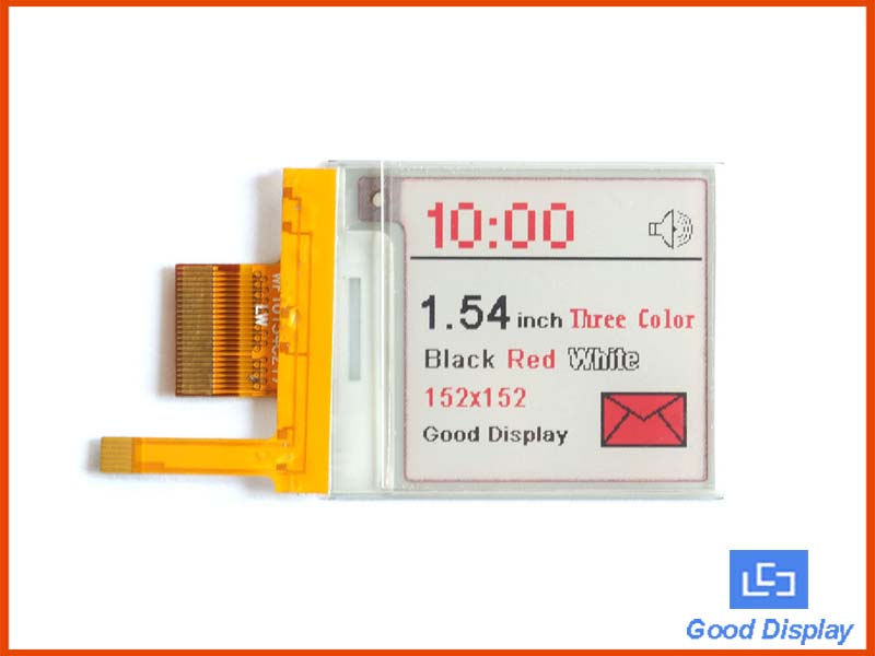 1.54 inch Three colors red e-paper display with frontlight GDEWL0154Z17FL