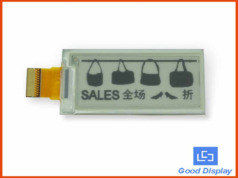 2.04 inch E-Paper Display 172x72 GDE021A1
