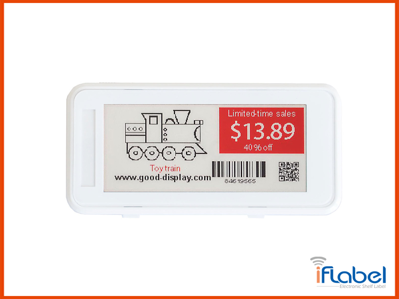 2.9 inch electronic shelf label ESL Tag For retail, conference and industrial tag IL029E