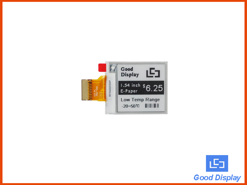 1.54 inch e-paper display ultra low temperature E ink panel SPI interface GDEM0154E97LT