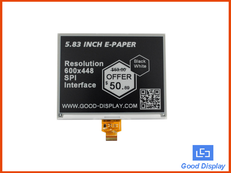 5.83 inch e-paper display GDEW0583T7