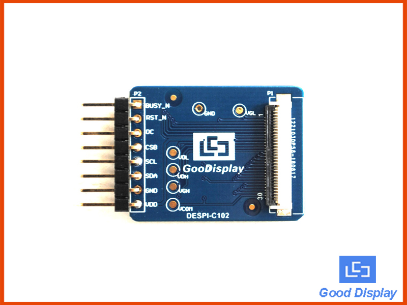 Connection board demo kit for 1.02 inch e-ink display module DESPI-C102