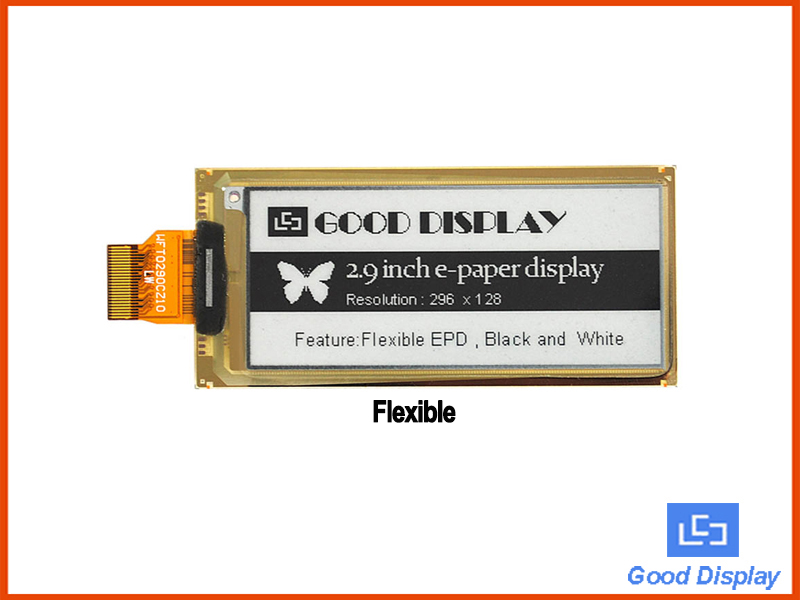 2.9 inch flexible e ink display module e paper display buy epd display manufacture GDEW029I6F