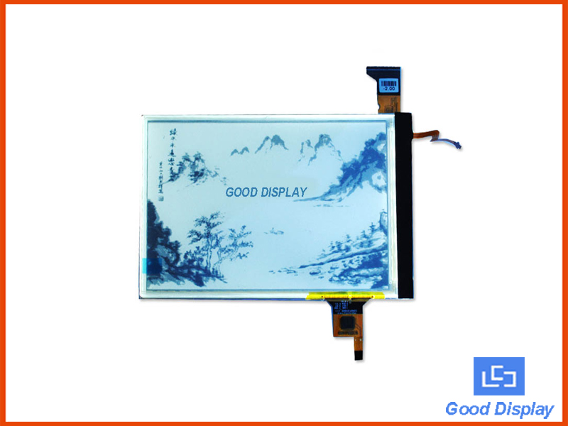 6 inch e-paper display 600X800 E-paper with touchscreen and front light GDE060BAFL-T