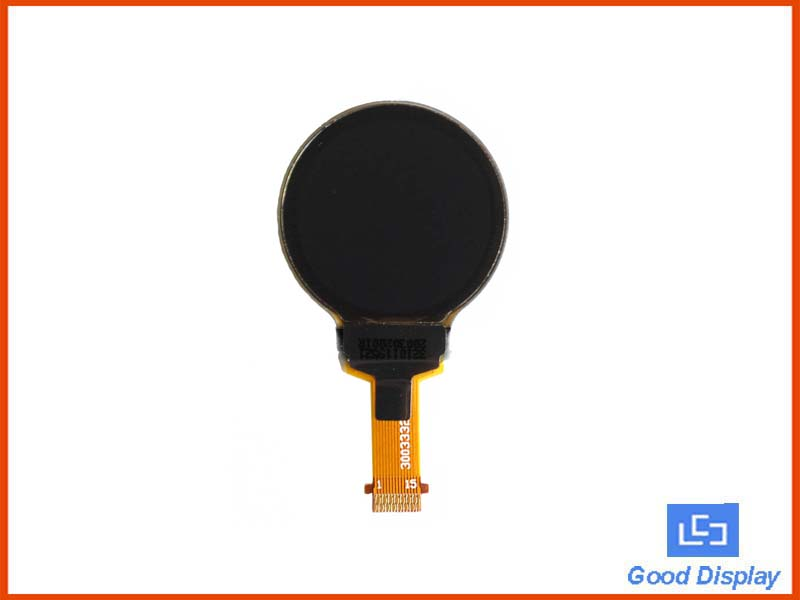 0.75 inch round small white 128x128 dots OLED display GDOR0075W