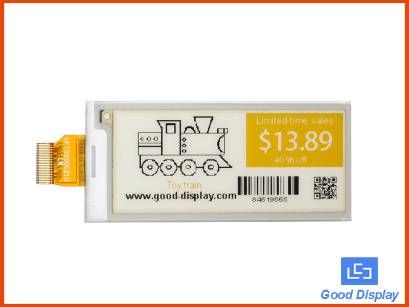 2.9 inch color e-paper display BWY three colors E ink panel black white and yellow GDEW029C32