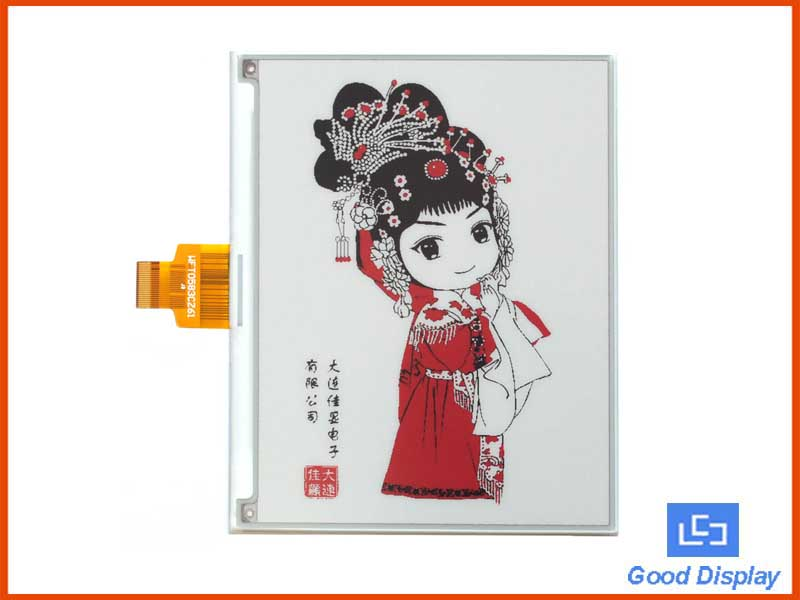 5.83 inch high resolution red e-paper display three colors GDEW0583Z83