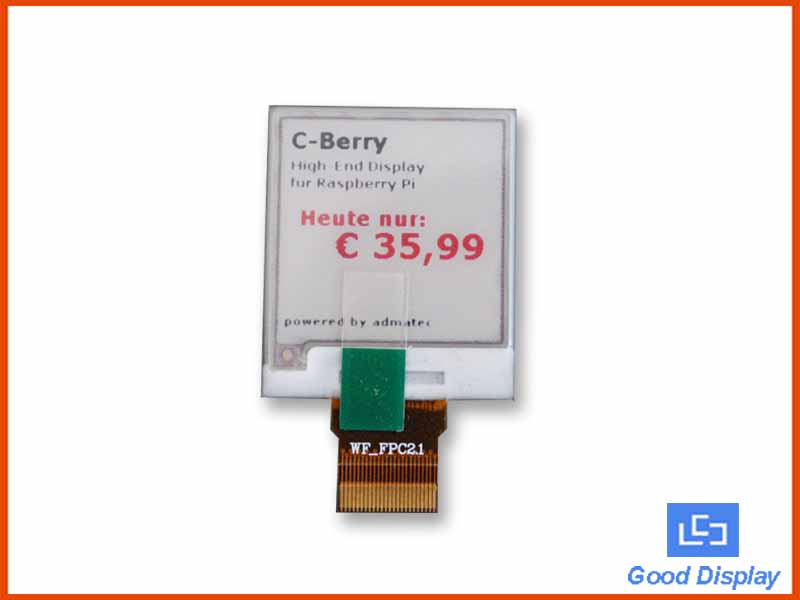 1.54 inch tri-color e-paper display, 3-color epaper screen, GDEW0154Z04