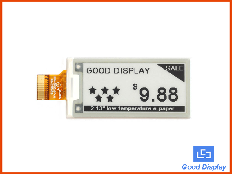 2.13 inch e-paper display ultra low temperature partial refresh E ink panel SPI interface GDEH0213D30LT