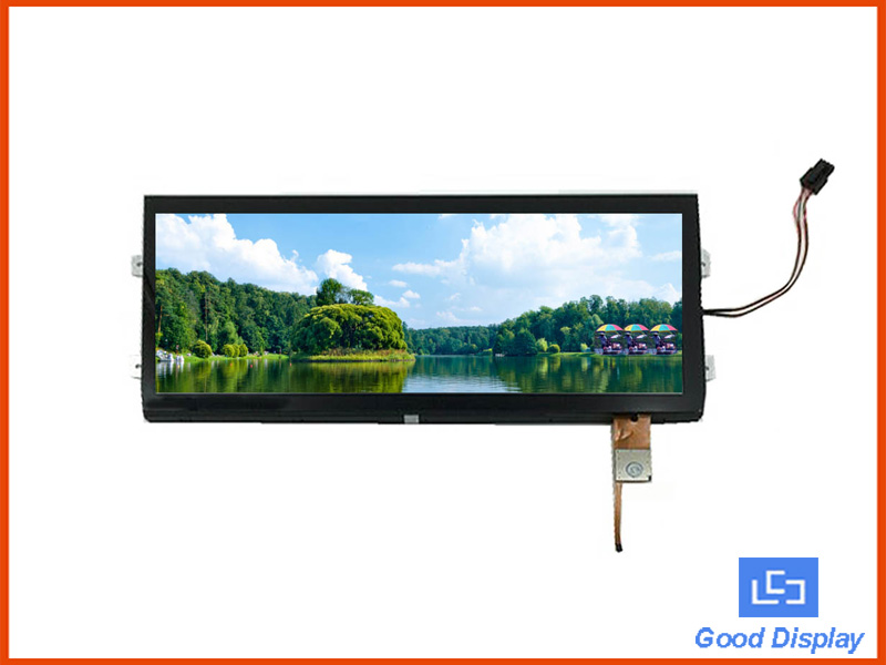 12.3 inch stretched bar TFT LCD panel with CTP touch screen big size ultra extra temperature GDS123DZX34HV-GF43
