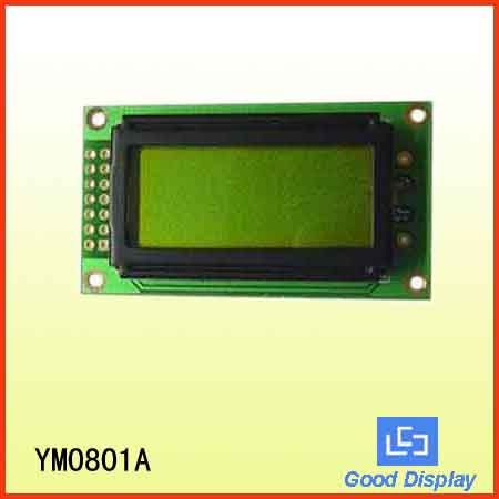 8x1 character LCD YM0801A