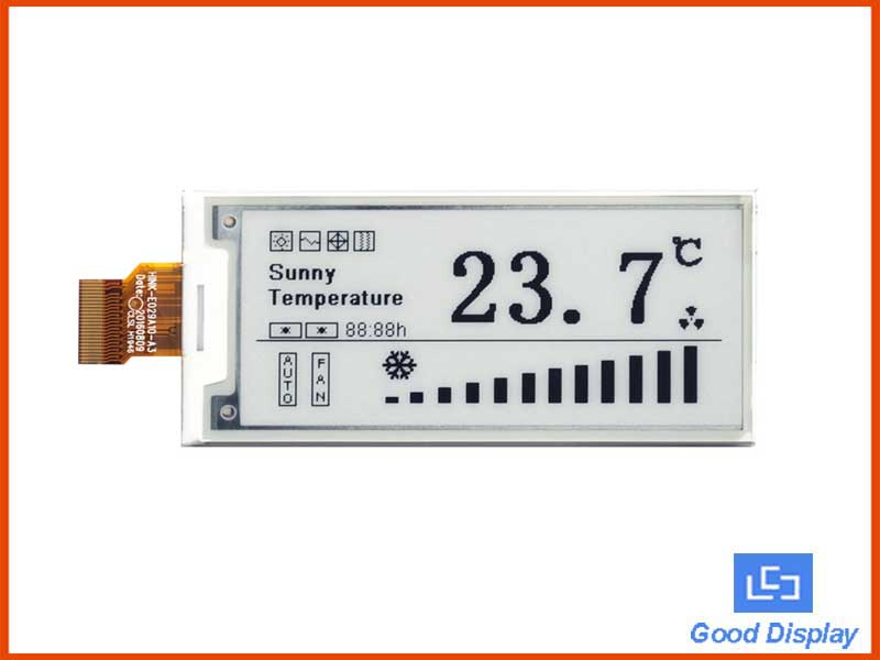 2.9 inch e-paper display ultra low temperature electronic paper screen GDEH029D57LT