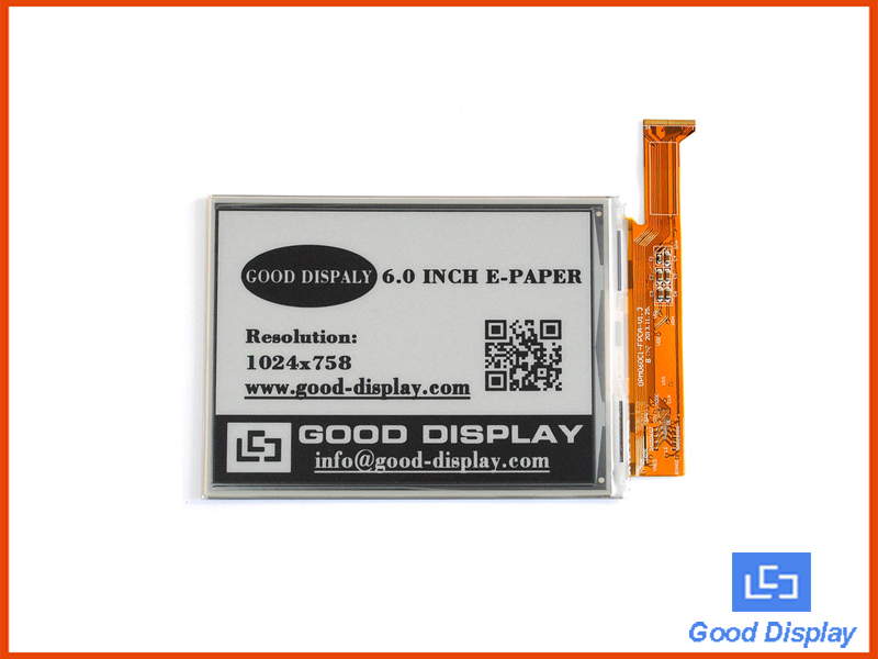 6 inch HD large e-paper display 1024*758 GDE060F3